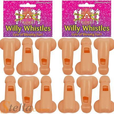 12 x Willy Whistles Blowing Fun Hen Do Night Party Accessory