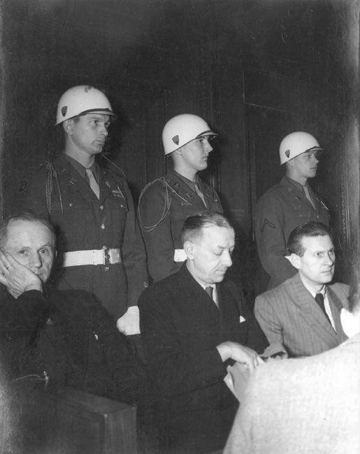 Three of the defendants at the Nuremberg Trials sentenced to varied ...