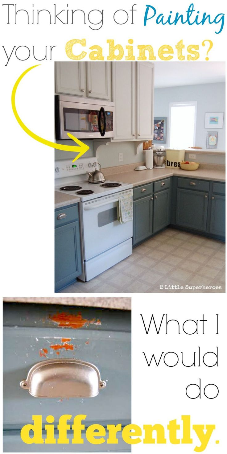 Great tips in the comment section Thinking of Painting Your Kitchen Cabinets? This is What I Would do Differently Next Time.