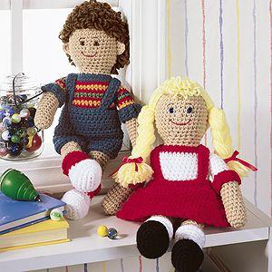 Leisure Arts - Forever Friends Boy and Girl Dolls Crochet Patterns ePattern, $3.99 (http://www.leisurearts.com/products/forever-friends-boy-and-girl-dolls-crochet-patterns-digital-download.html)