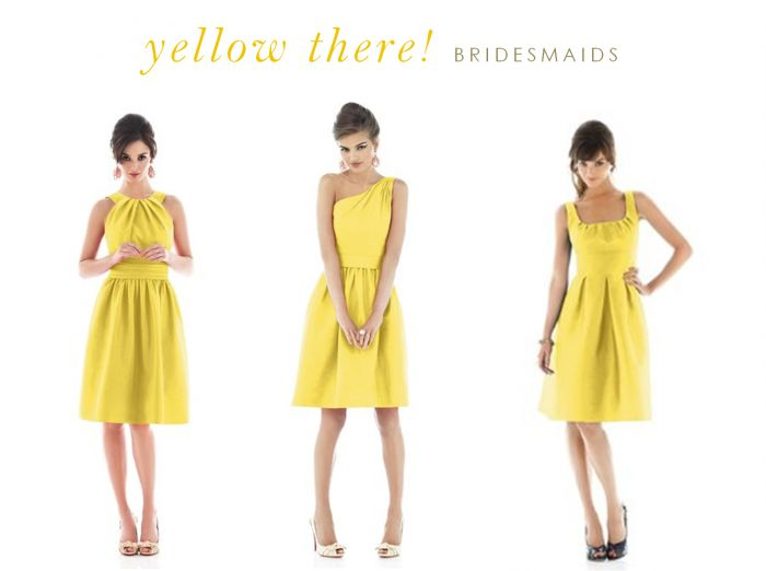 yellow bridesmaid dresses | Yellow Dresses for Bridesmaids and Guests | Dress for the Wedding @Maggie Hamilton