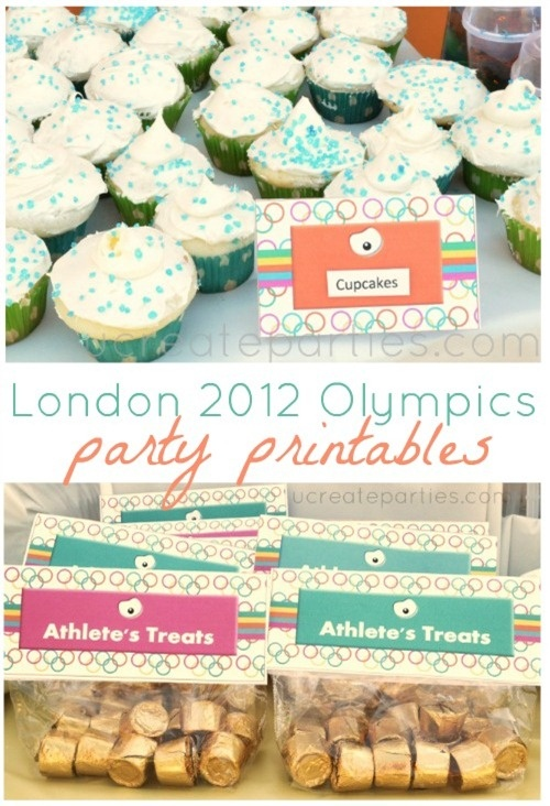 London Summer Olympics Free Printables. Super cute!!! They use the London Games colors and mascot in the design!