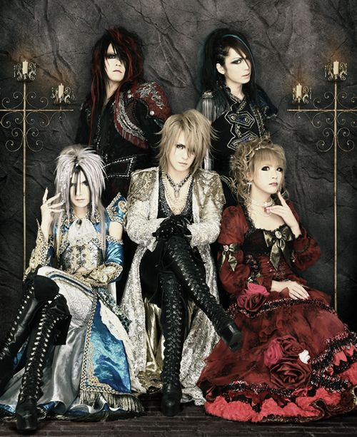 Versailles, a Japanese Visual-kei band who favored the androgynous Rococo style.  Freakishly cool.
