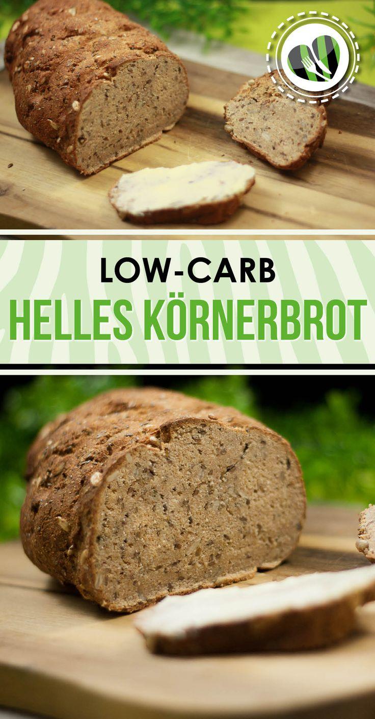 Wer auf Kohlenhydrate verzichtet muss oft auch auf Brot verzichten. Aber hier habe ich eine leckere low carb Brotalternative. Nämlich ein helles Körnerbrot. Das Rezept gibt es auf www. schwarzgrueneszebra.de