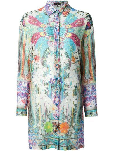 Etro Floral Print Oversized Shirt