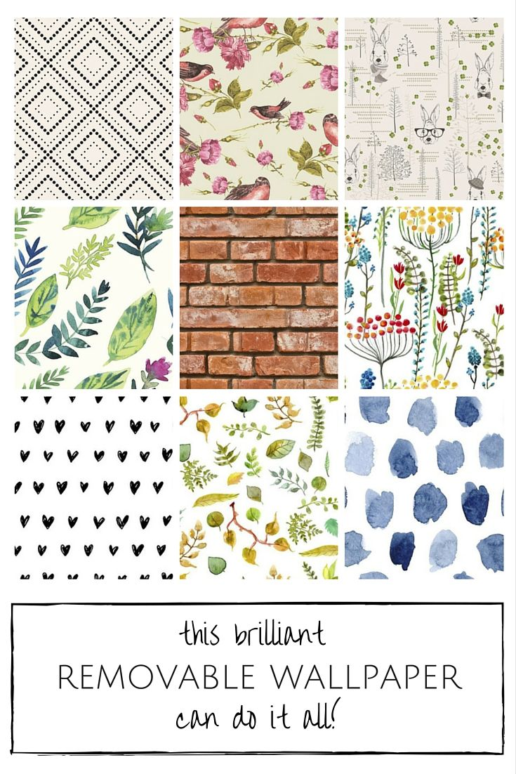 Turns out adding a fun pop of colour and pattern with wallpaper can take just minutes! And the best part - changing your mind is no big deal, with this removable wallpaper, simply pull it off in just seconds and then re-stick or reuse as many times as you'd like.