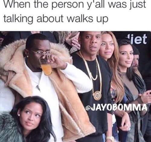 hahah me and my squad when a teacher walks past lmao