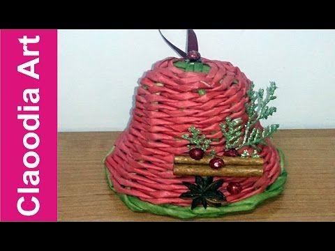 Jak zrobić dzwoneczek z papierowej wikliny? (bell, paper wicker) - YouTube