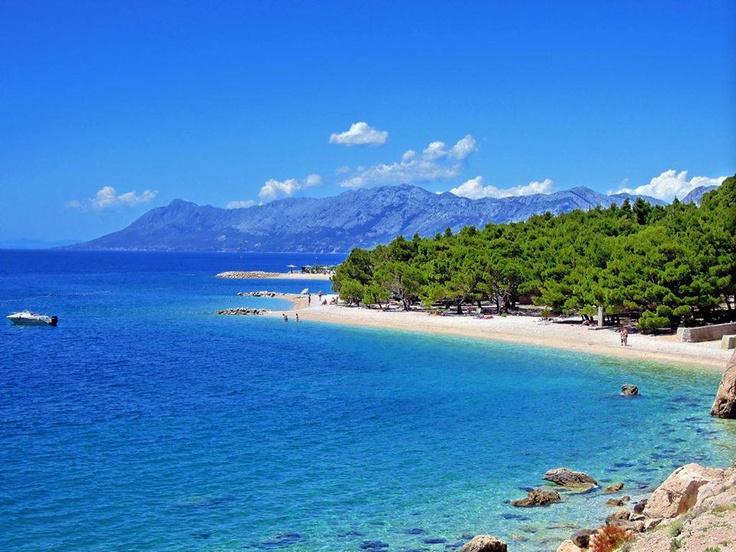 Krvavica beach, Central Dalmatia, Croatia