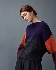 Women's Kimono Colour Block Pullover   TOAST