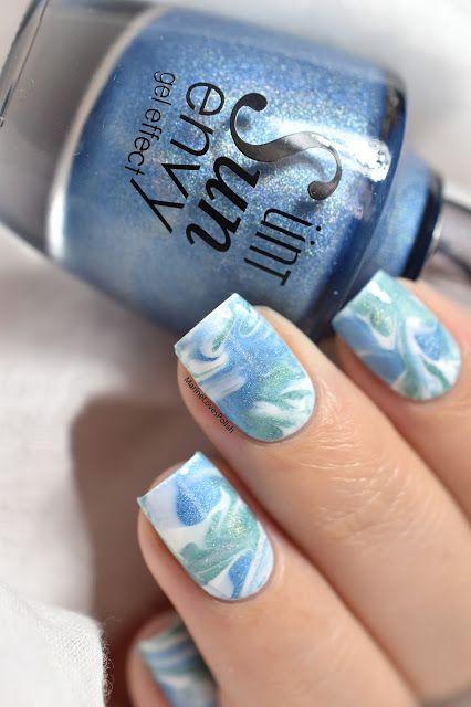 Marine Loves Polish: Smooshy Marble Nail Art [VIDEO TUTORIAL] - marble nails - ÜNT Sun Envy Forever a promise, All eternity, Dream swirl