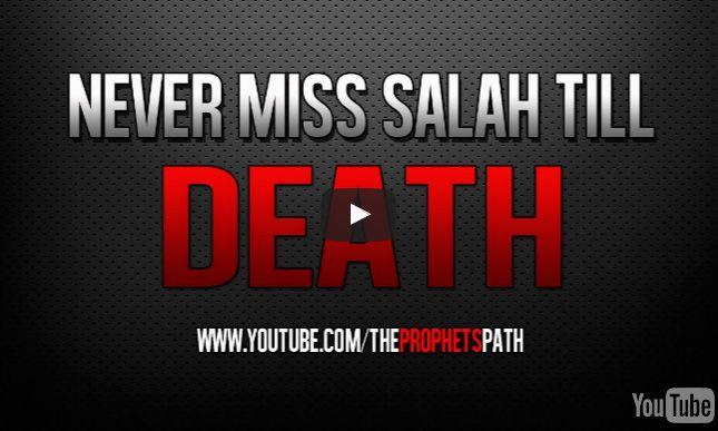 Umar Al-Khittab was stabbed whilst leading the prayer. He still prayed. There is no deen without prayer! Watch this: