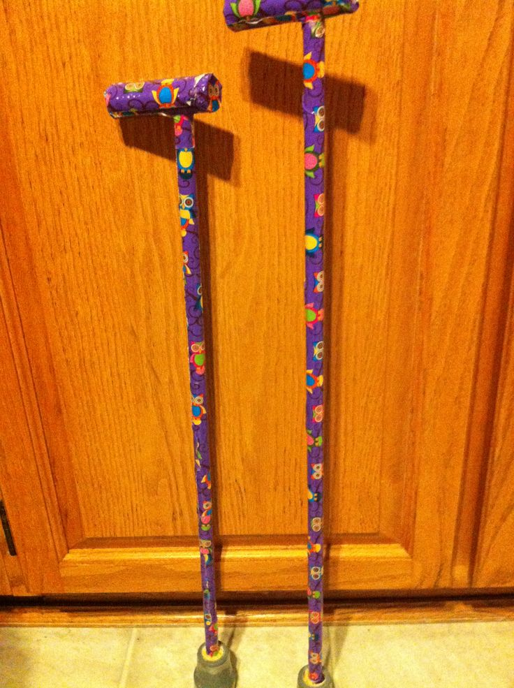 2 walking sticks... one for her and her BFF at school specialty duck tape to decorate, and a rubber grip on bottom for canes.