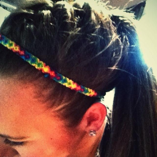 friendship bracelet #headband hmmm....should get some elastic...