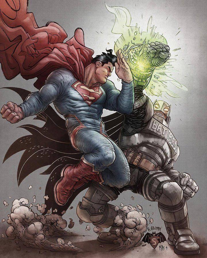 Batman vs Superman by Rafael Grampá
