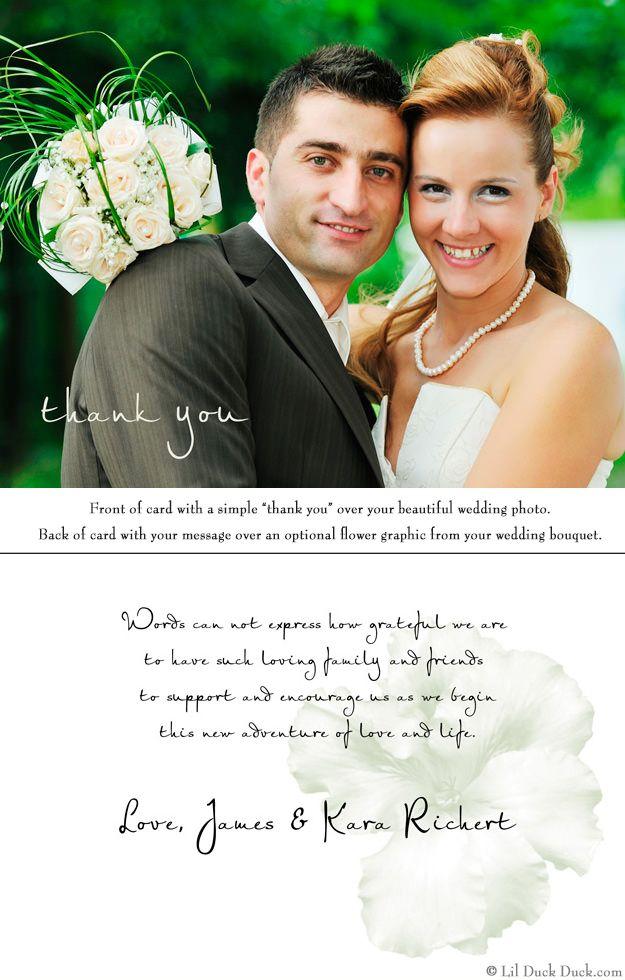 Bridal Simplicity Photo Thank You Card