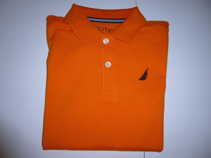 Nautica Boys Solid Orange Polo Shirt  Size  5/6     NWT #Nautica #Everyday