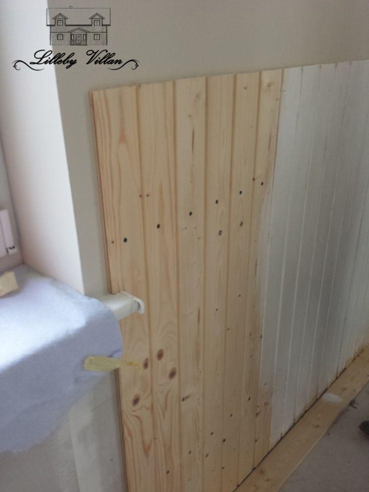 Holzvertäfelung streichen