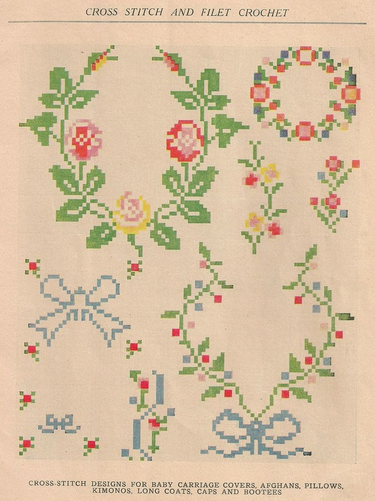 Vintage cross stitch chart from Sentimental Baby