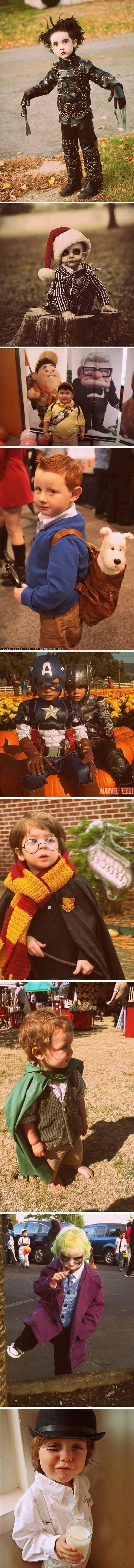 Kid Halloween costumes.... Cute!  So sad the boys are too old for these!