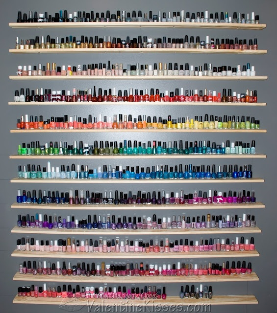 custom nail polish shelf