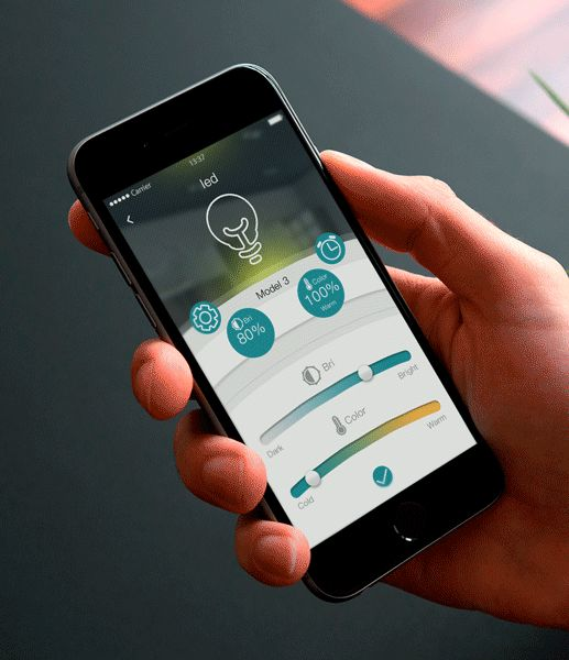 Led Control Interface(Smart home) on Behance