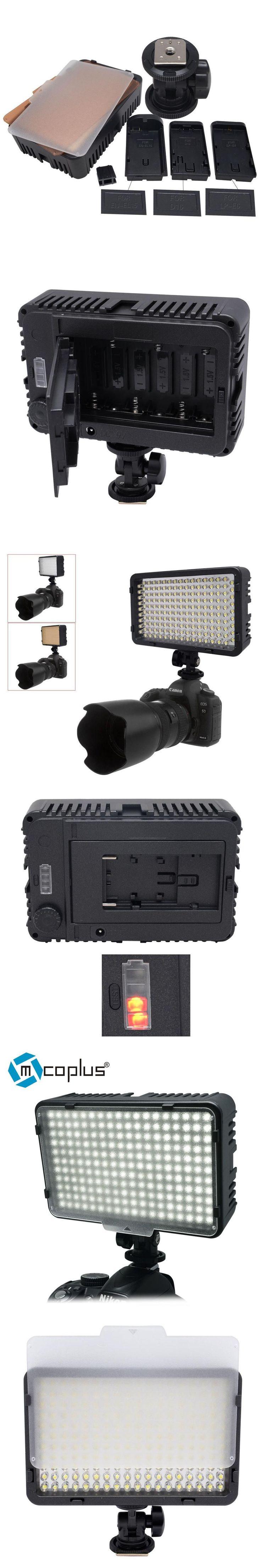 Mcoplus 198 LED Video Photo Light Lighting Lamp for DV Camcorder & Canon Nikon Pentax Sony Panasonic Olympus Digital SLR Cameras