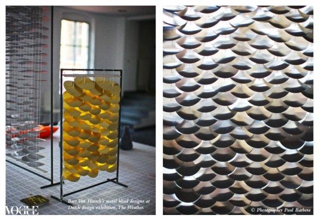 Bart Van Heesch's blind design at The Weather exhibition at Studio Zeta.
