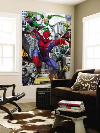 looks like our living room, random super hero stuff..