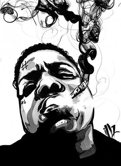 Biggie Smalls Art By Miss Illicit With Images Biggie