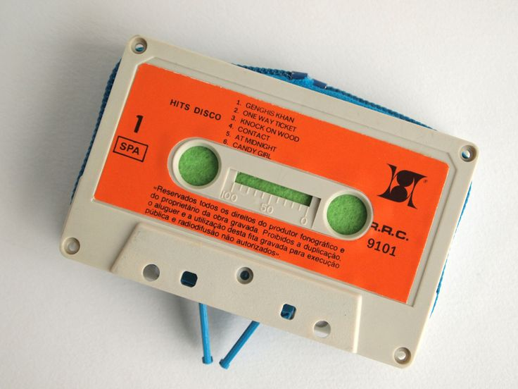 Zippered Cassette Tape Wallet - Hits Disco by thepickpocketstore on Etsy