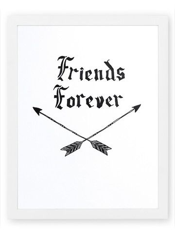 Friends Forever Letterpress Art Print