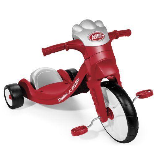 Radio Flyer Lights and Sounds Racer, Red by Radio Flyer. $49.99. Durable molded frame. Traction tread on front wheel to hug the road. Adjustable grow with me seat. Electronic panel plays 9 fun songs and sounds. From the Manufacturer                The Lights and Sound Racer offers fun, fast riding with lights and sounds at a great price. The trike's over-sized front wheel features traction tread to hug the road and allow your child to take off without slipping or spinning out....