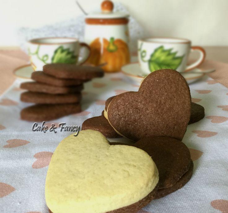 Biscotti frolla bicolore San Valentino