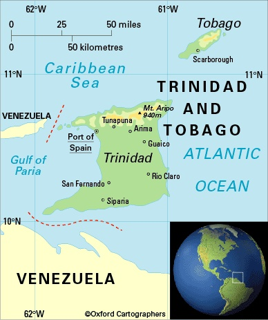 Best Trinidad And Tobago Map Ideas On Pinterest Trinidad Map - Barbados earth map