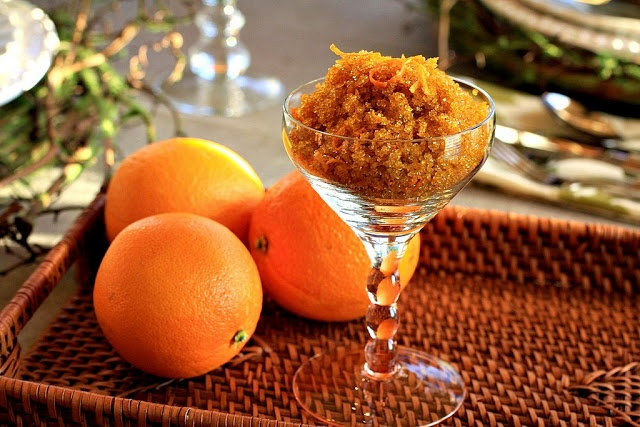 Flavored Sugar Bowls - from citrus peels to vanilla beans = great addition to bakery items, morning coffee, or evening tea.