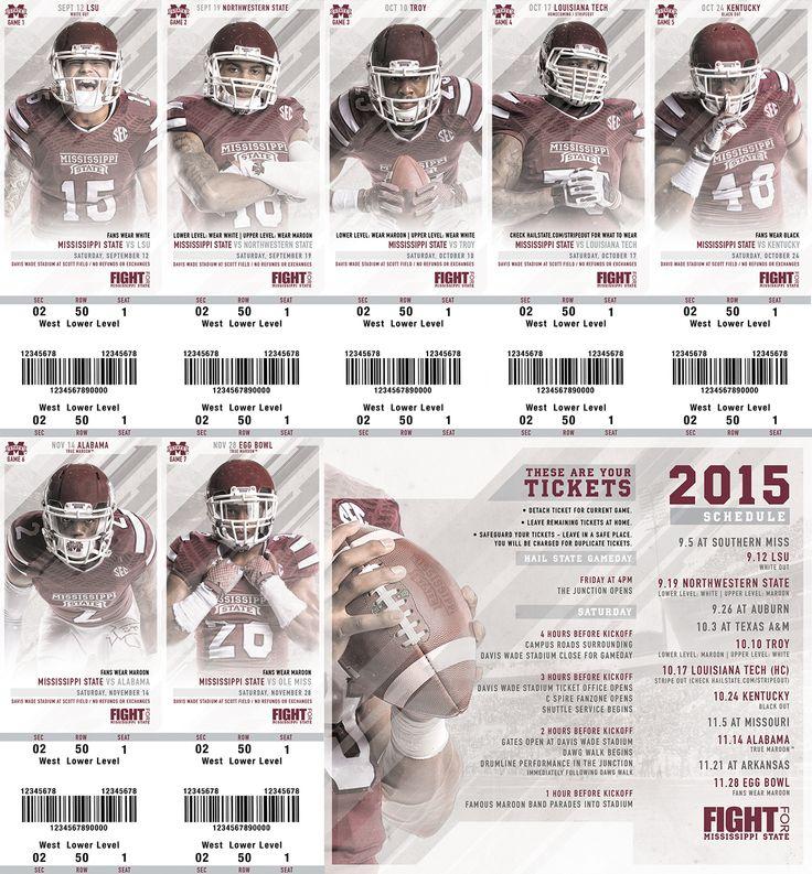 Mississippi State Football Season Tickets on Behance