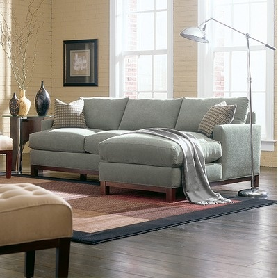 Rowe Furniture Sullivan Mini Mod Apartment Sectional Sofa   In Teal Or Navy