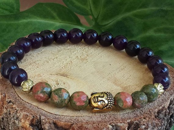 Meditation Bracelet   Gesmtone Bracelet Jade Gemstone