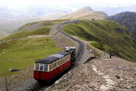 Snowdon, North Wales, UK. The most spectacular train journey in the UK.