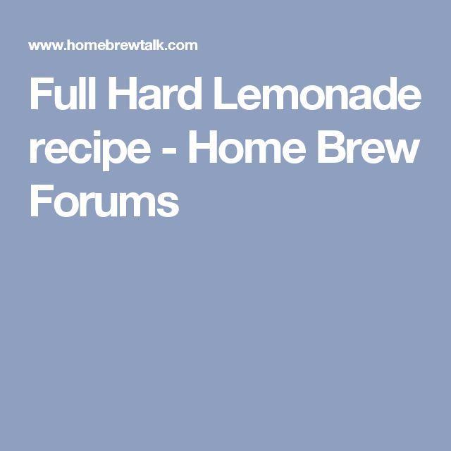 Full Hard Lemonade recipe - Home Brew Forums