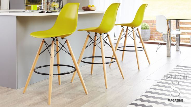 Bar Stools with Wooden Legs