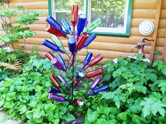 Items Similar To Bottle Tree 28 Branch   Big Country Tree   Yard Garden Art  On Etsy