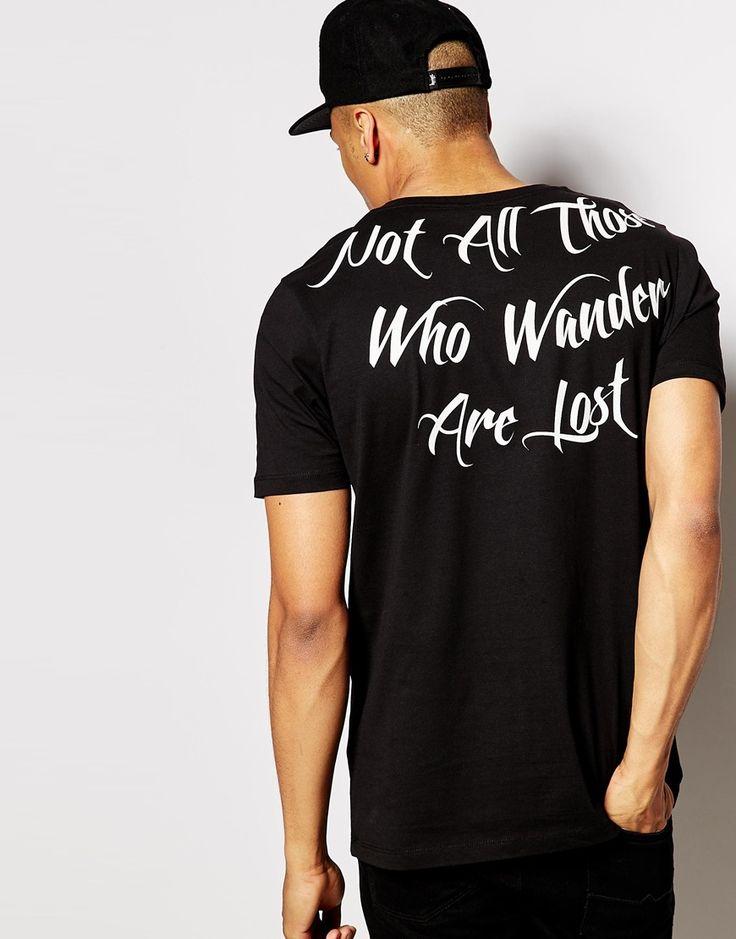 4a0b9f2a598c4 Super Longline T-shirt by ASOS Soft-touch jersey Scoop neck Printed back  Super longline cut Cut longer than standard length Machine wash Cotton Our  model ...