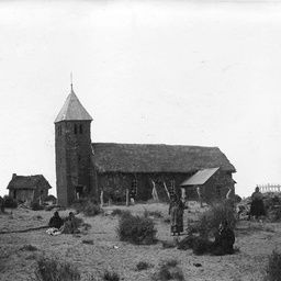 The Lutheran Church with a thatched roof