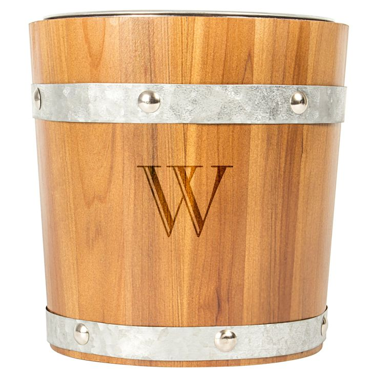 20 Eye Catching Under Stairs Wine Storage Ideas: Cathys Concepts Personalized Rustic Fir Wood Ice Bucket