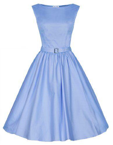 Lindy Bop 'Audrey' Hepburn Style Vintage 1950's Pastel Rockabilly Swing Dress (XS, Pastel Blue) Lindy Bop,http://www.amazon.com/dp/B00I3F2MVO/ref=cm_sw_r_pi_dp_Bunltb1KXVSNW1WS