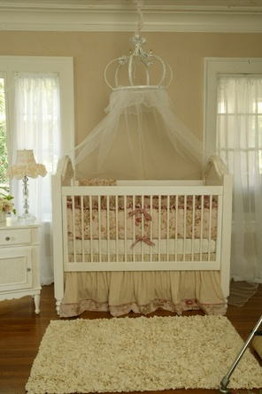 Crown crib! So making this someday! Needs a cool mobile hanging from inside it too...