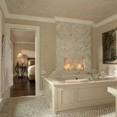 16 Fireside Bathtubs For A Cozy And Luxurious Soak | Marble Tile Bathroom,  Marble Tiles And Marbles
