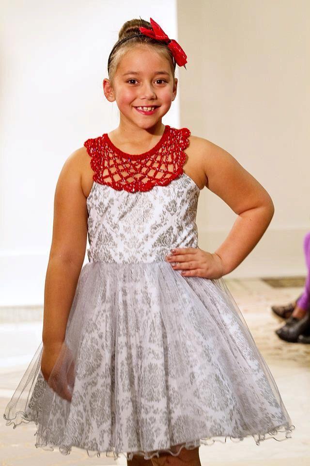 Damask Dress / White Metallic Dress / Special Occasion Dress / Flower Girl Dress by AnzhelikaCrochet on Etsy